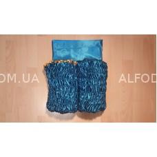 Оббивка атлас (33см) с а/б (бирюза)