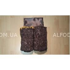 Оббивка атлас (33см) с а/б (коричневый)
