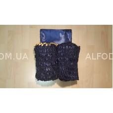 Оббивка атлас (33см) с а/б (синий)