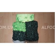 Оббивка атлас радуга №1 (33см) простая  (зеленый-бутылка + салатовый)