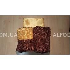 Оббивка атлас радуга №1 (33см) проста (коричневий + золото)