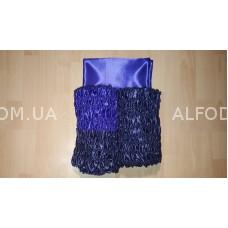 Оббивка атлас радуга №1 (33см) проста (синий + электрик)