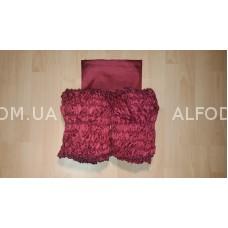 Оббивка шёлк (33 см) простая (бордо)