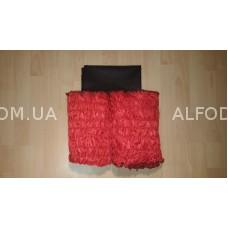 Оббивка шёлк (33 см) простая (красный + чёрная крышка)
